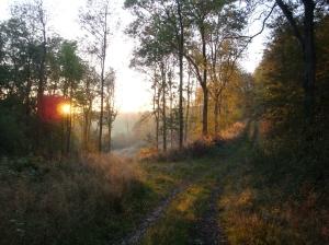 Autumn sunset on Long Mountain2